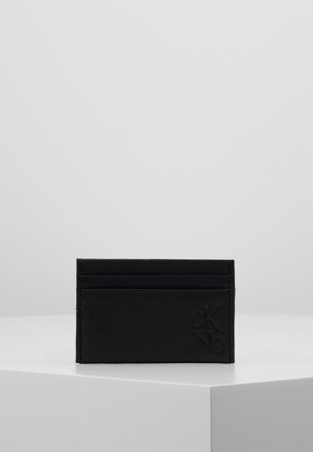 MIRROR MONOGRAM CARD CASE - Plånbok - black