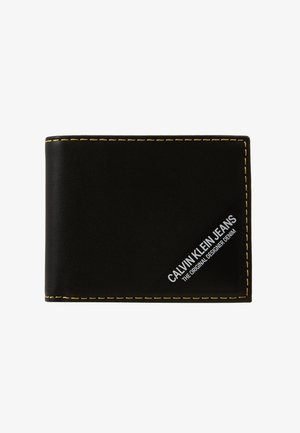SMOOTH STITCH BILLFOLD - Wallet - black
