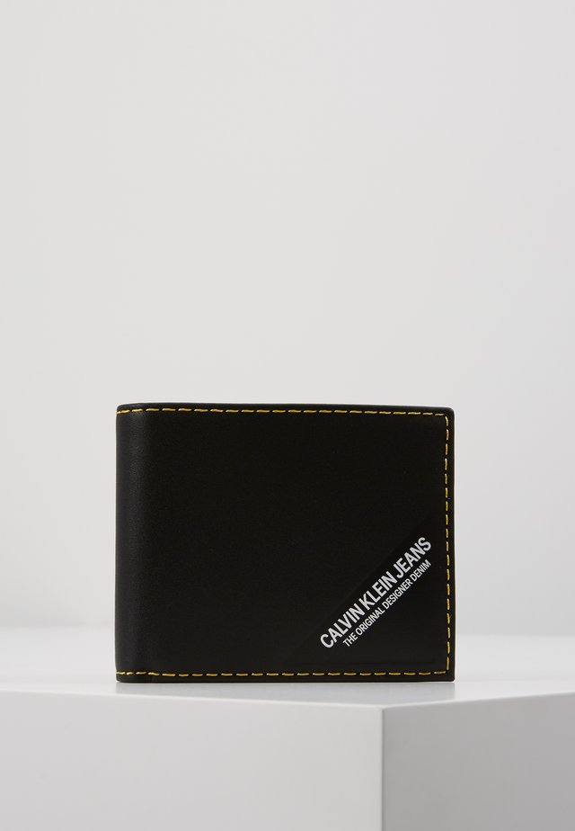 SMOOTH STITCH BILLFOLD - Portemonnee - black