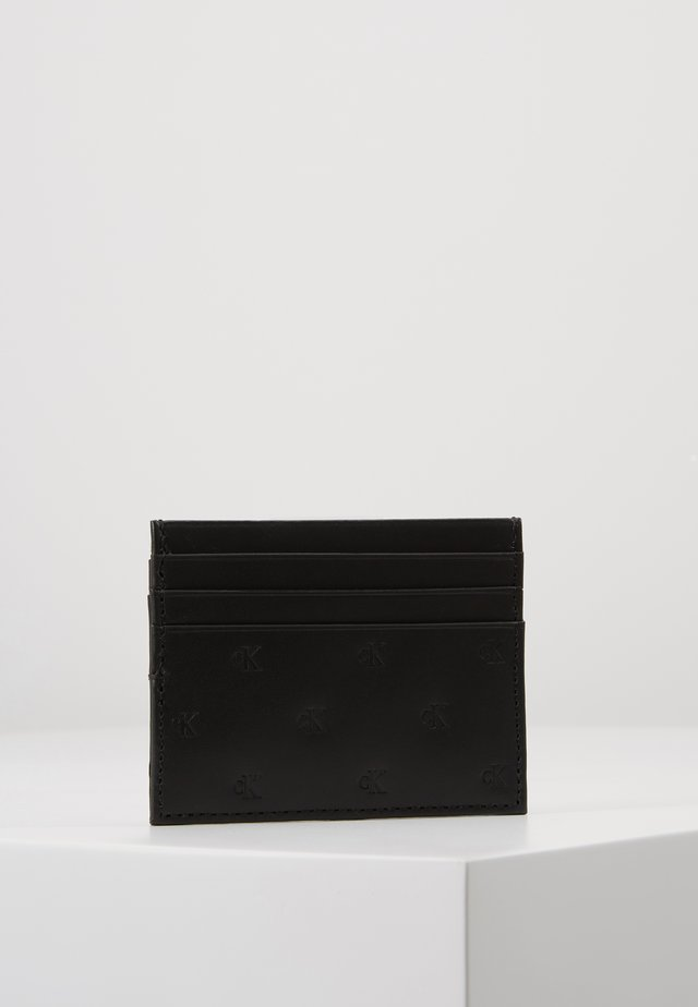 MONOGRAM EMBOSS CARDCASE - Plånbok - black