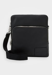 Calvin Klein Jeans - MICRO PEBBLE FLAT PACK - Across body bag - black - 0