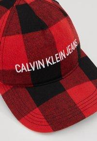 Calvin Klein Jeans - CHECK - Cap - black - 5