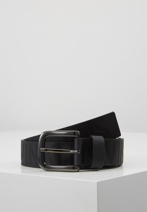 LOGO EMBOSSED BELT - Belt - black