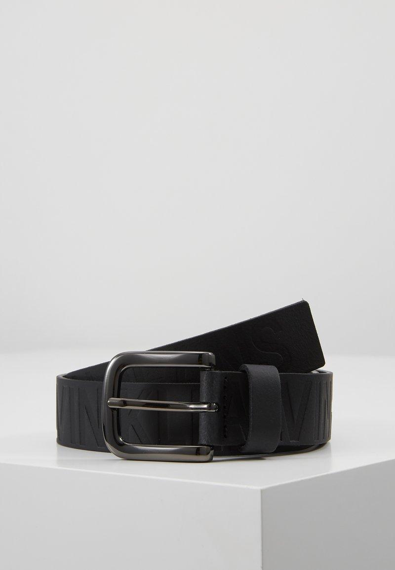 Calvin Klein Jeans - LOGO EMBOSSED BELT - Gürtel - black