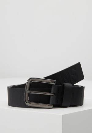 LOGO EMBOSSED BELT - Pasek - black