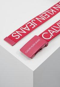 Calvin Klein Jeans - LOGO BELT - Pásek - pink - 3