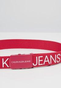 Calvin Klein Jeans - LOGO BELT - Pásek - pink - 2