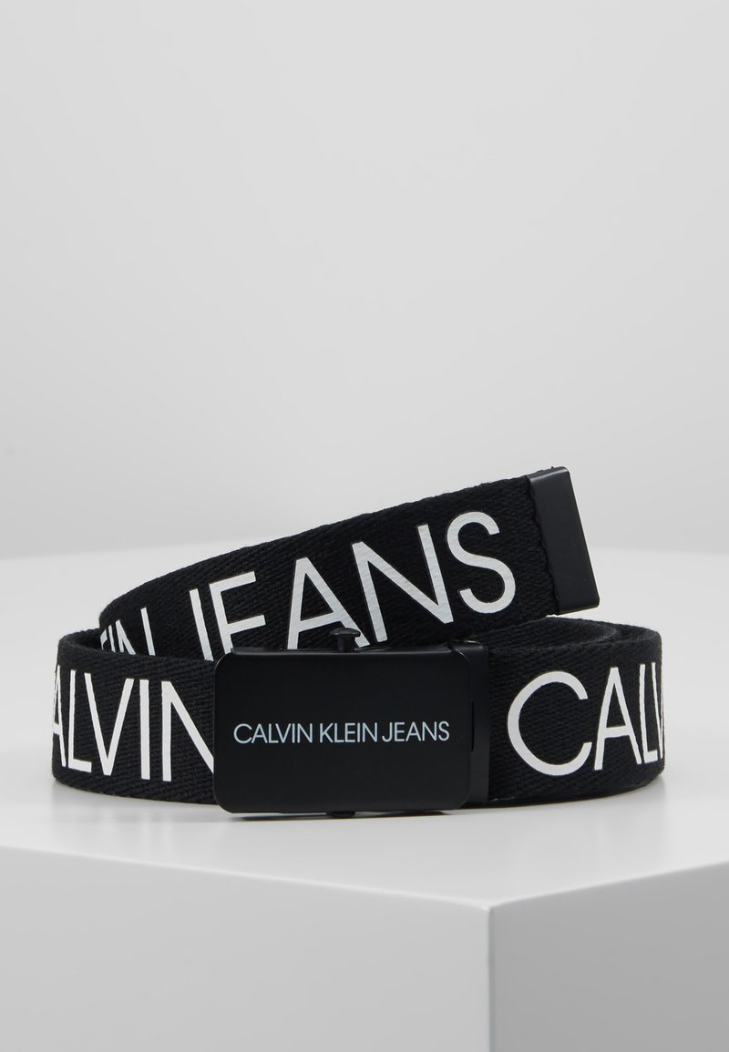Calvin Klein Jeans - LOGO BELT - Cintura - black