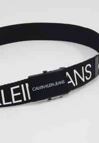 Calvin Klein Jeans - LOGO BELT - Cintura - black - 2