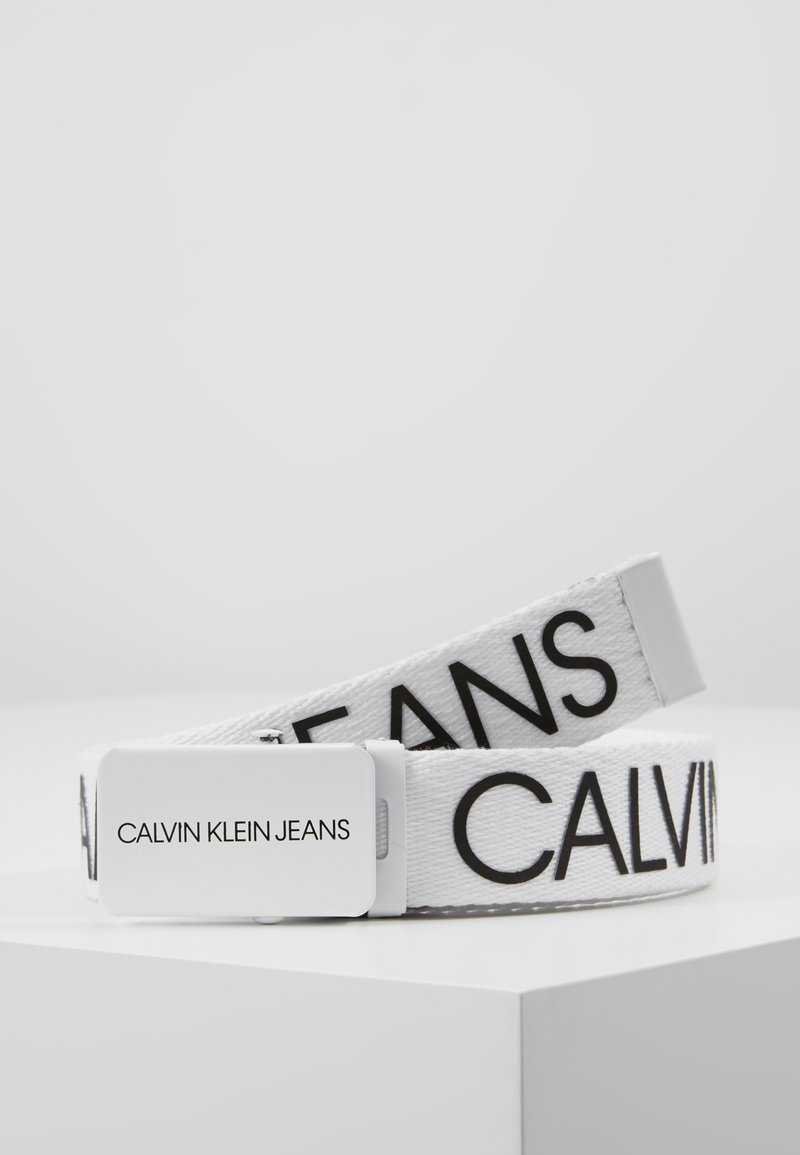 Calvin Klein Jeans - LOGO BELT - Pásek - white