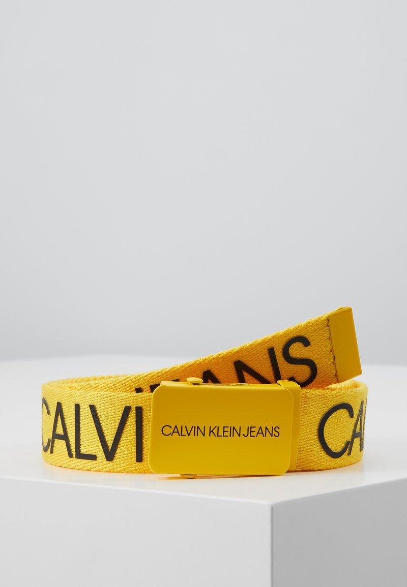 Calvin Klein Jeans - LOGO BELT - Cinturón - yellow
