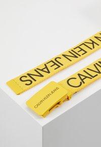 Calvin Klein Jeans - LOGO BELT - Cinturón - yellow - 3
