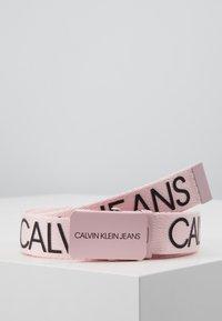 Calvin Klein Jeans - LOGO BELT - Pasek - pink - 0