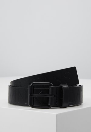 LOGO EMBOSSED BELT - Cintura - black