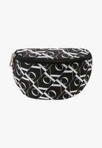 Calvin Klein Jeans - MIRRORED MONOGRAM WAIST PACK - Bandolera - black - 1