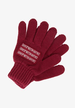 BOYS BASIC GLOVES - Rukavice - red