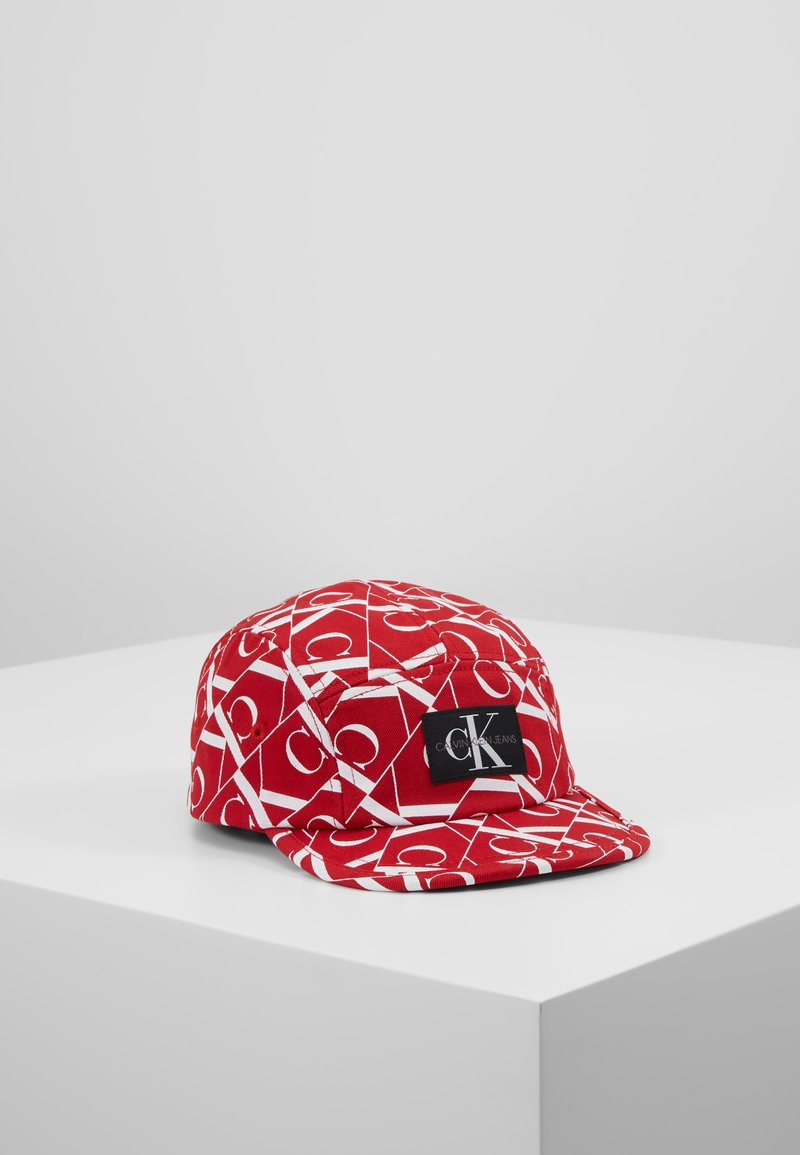 Calvin Klein Jeans - MIRROR MONOGRAM PANEL  - Cappellino - red