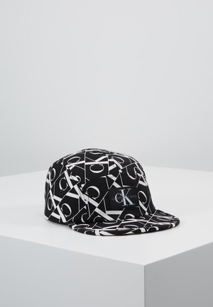 MIRROR MONOGRAM PANEL  - Caps - black