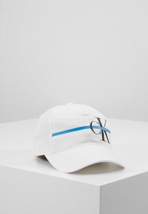 MONOGRAM STRIPE CAP - Lippalakki - white