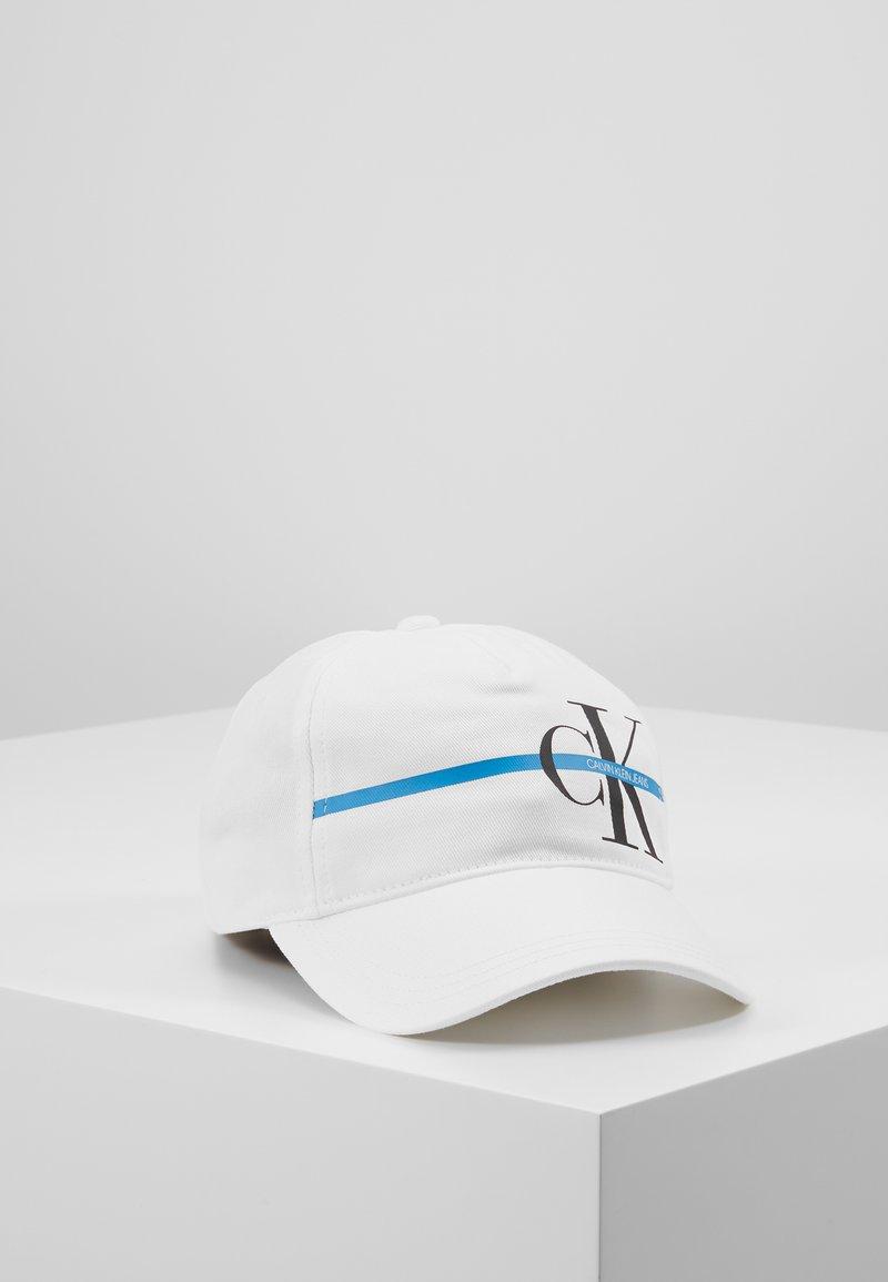 Calvin Klein Jeans - MONOGRAM STRIPE CAP - Kšiltovka - white