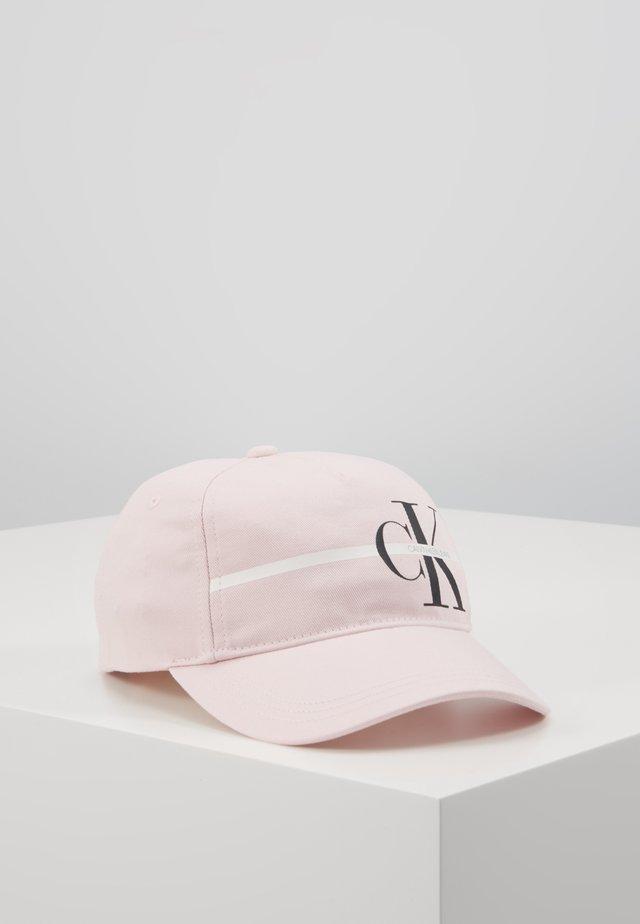 MONOGRAM STRIPE CAP - Cap - pink