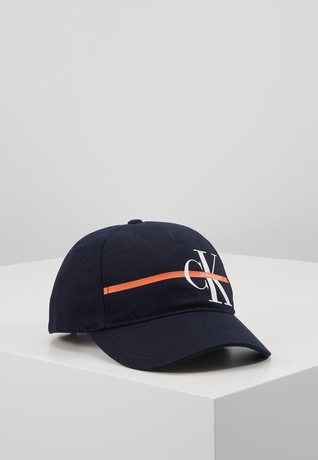 MONOGRAM STRIPE CAP - Lippalakki - blue