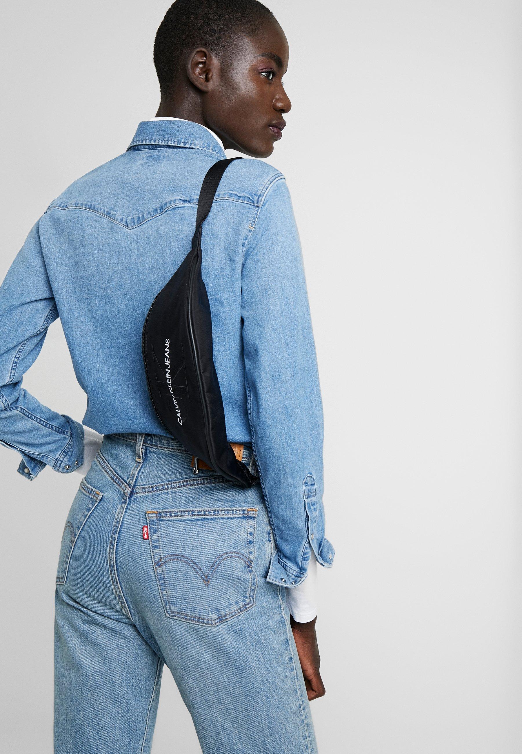 Calvin Klein Jeans Monogram Street Pack - Sac Banane Black