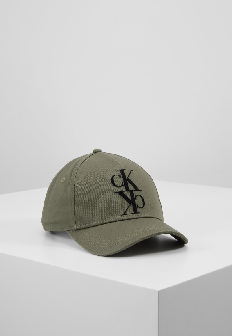 Calvin Klein Jeans - J MIRROR CK CAP WITH FLOCKING - Cap - green