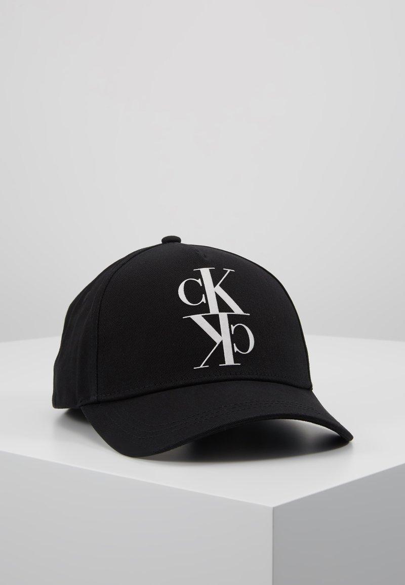 Calvin Klein Jeans - J MIRROR CK CAP WITH FLOCKING - Kšiltovka - black