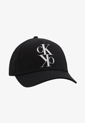 J MIRROR CK CAP WITH FLOCKING - Czapka z daszkiem - black