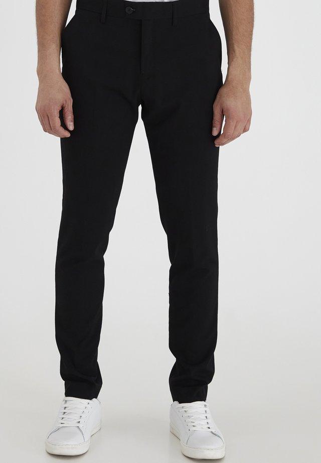 PIHL SUIT PANTS - Suit trousers - black