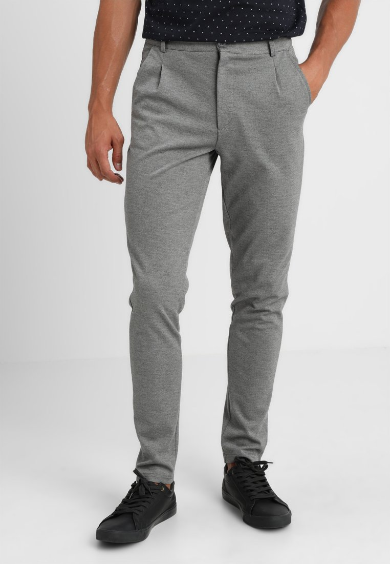 Casual Friday - Trousers - pewter mix/hellgrau