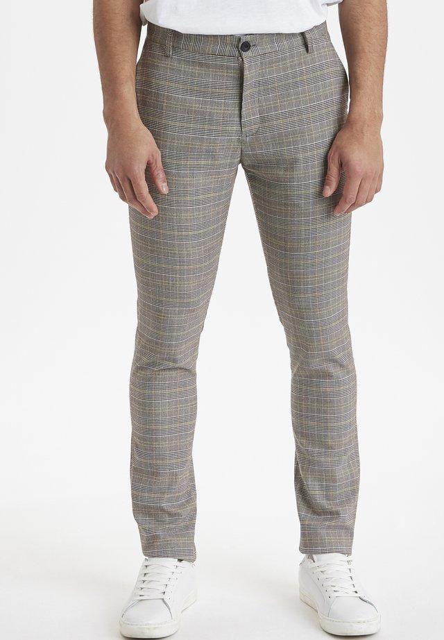 PEARSON CHECKED  - Broek - neutral grey