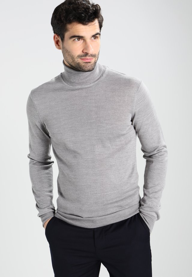 Stickad tröja - light grey melange
