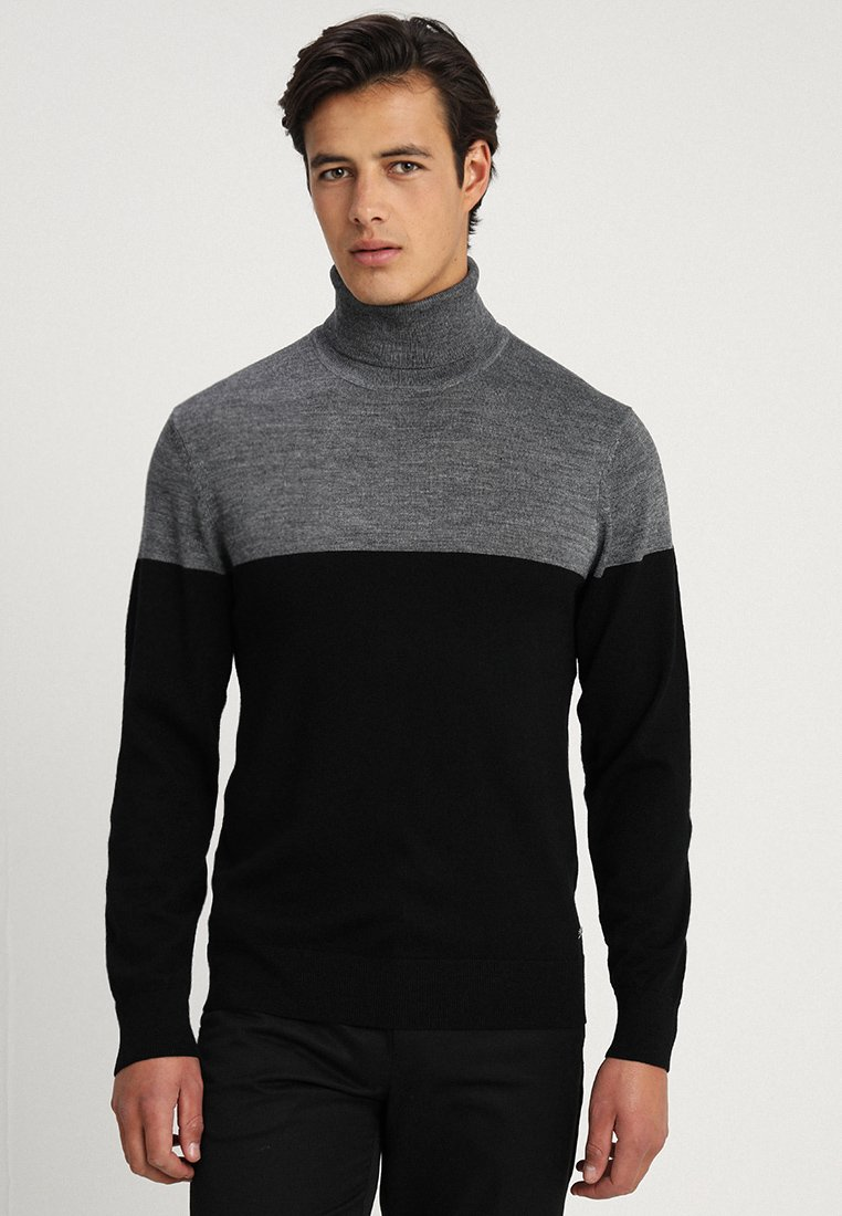 Casual Friday - ROLL NECK - Jersey de punto - pewter mix