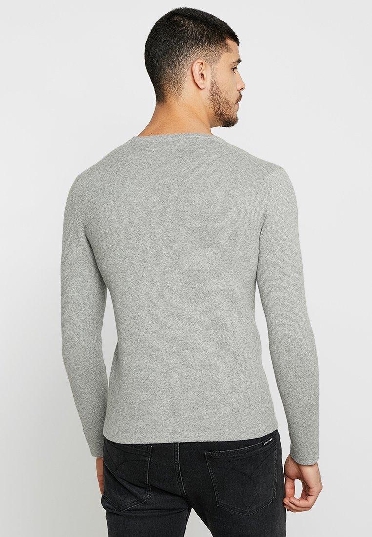 Friday Grey Melange Pullover Light Casual q5j34ARL