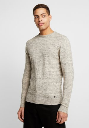 Strikpullover /Striktrøjer - light grey melange