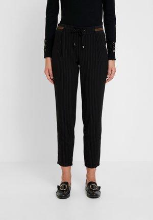 TROUSERS - Pantaloni - grey/black pin stripe