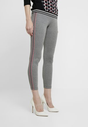 TROUSERS - Trousers - grey/black