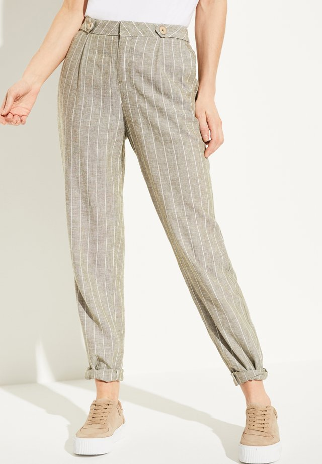 Trousers - khaki stripes