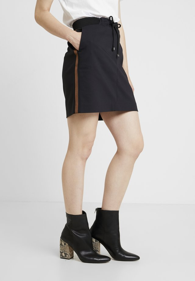 SKIRT SHORT - Mini skirts  - black