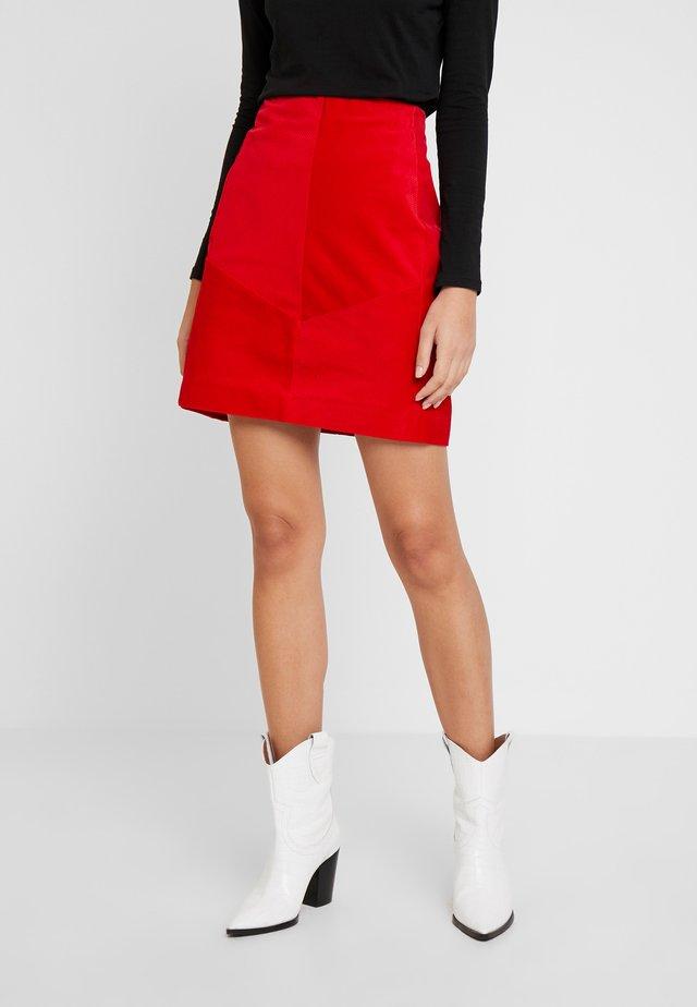 SKIRT SHORT - A-line skirt - red