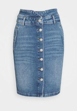 Pencil skirt - blue denim
