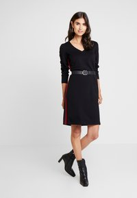 comma casual identity - DRESS TAPE - Jersey dress - black - 1