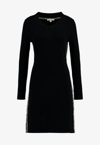 comma casual identity - DRESS SHORT - Strikkjoler - black - 4