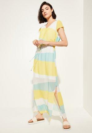 MIT TUNNELZUG - Maxi dress - white colorblock print