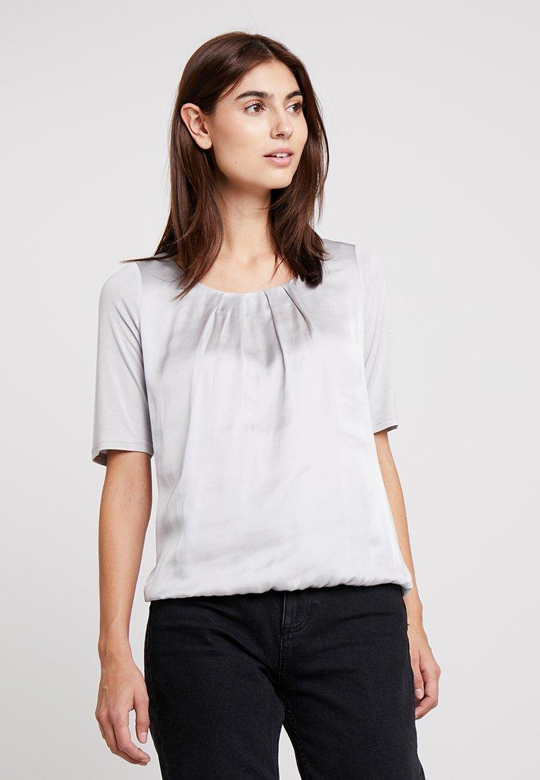 comma casual identity - KURZARM - T-shirts basic - light grey
