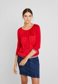 comma casual identity - 3/4 SLEEVE - Blouse - red - 0