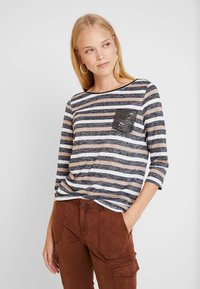 comma casual identity - 3/4 SLEEVE - Camiseta de manga larga - brown - 0