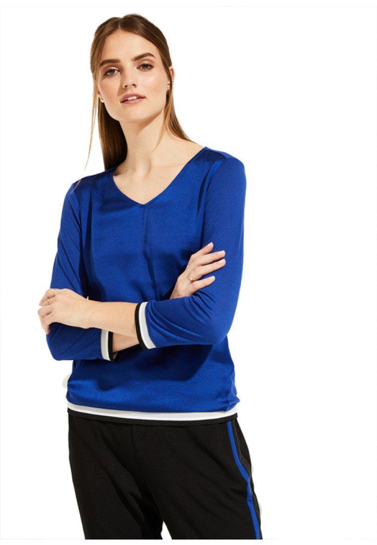 comma casual identity - MIT V-AUSSCHNITT - Langarmshirt - dark blue